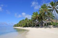 Rarotonga för landskapTitikaveka strand kock Islands Arkivbild