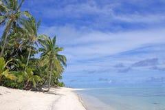 Rarotonga för landskapTitikaveka strand kock Islands Arkivbilder