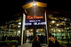 Rarotonga Internationale Luchthaven - Cook Islands Stock Afbeelding