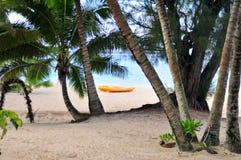 Rarotonga kock Islands Beach Arkivfoton