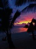 Rarotongan Beauty. Sunset on Black Rock Beach - Rarotonga Royalty Free Stock Photo