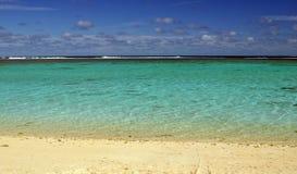 Rarotongan plaża Zdjęcia Royalty Free