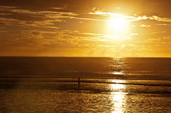 Rarotongan Sunset Royalty Free Stock Image
