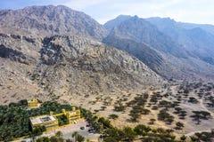 Ras Al Kaimah Dhayah Fort Landscape sikt arkivbilder