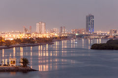 Ras Al Khaimah creek at dusk, UAE Royalty Free Stock Image