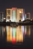 Ras al Khaimah GASbyggnad, UAE Arkivbild