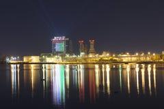 Ras al Khaimah nachts Lizenzfreies Stockbild