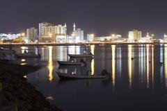 Ras al Khaimah at night Stock Photography