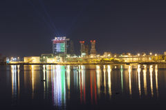 Ras al Khaimah at night Royalty Free Stock Image
