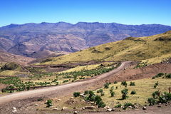 Ras Dashen massif. In Simien mountains stock images