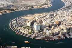 Ras distrito do Al, Dubai Foto de Stock Royalty Free