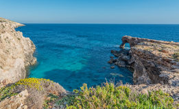 Ras Hamrija along the Southern Coast of Malta Royalty Free Stock Photos