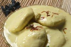 Ras Malai - ein süßer Teller von Bengal Stockbild