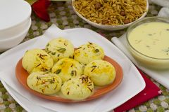 Ras Malai. Indian special traditional sweet food Ras Malai stock photos
