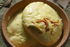 Ras Malai - um prato doce de Bengal Fotografia de Stock Royalty Free
