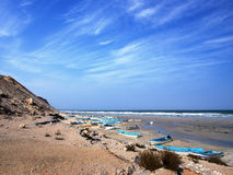 Ras Markas beach, Oman. Beach in Ras Markas, Al Wusta region, Sultanate of Oman stock photos