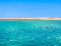 Ras Mohammed Egypt. Background of Sharm el Sheikh, Sinai Peninsula, Egypt. Blue sea of Ras Mohammed National Park with its clear and transparent waters and its Royalty Free Stock Photo
