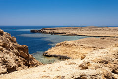 Ras Mohammed. National park Ras Mohammed in Egypt. Sea view royalty free stock images