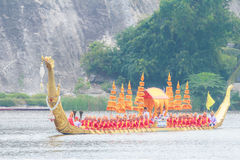 Ras 2016 van Huahin het Traditionele Thaise lange boten stock foto