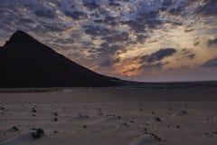 Rasa Bir krajobraz przy zmierzchem Zdjęcia Stock