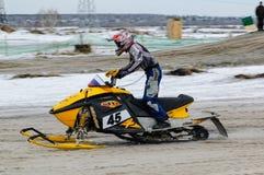 Rasa narciarski mobilny jeździec Fotografia Stock