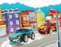 Rasa - pędzący samochody Zdjęcie Royalty Free