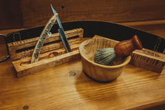 Rasage des accessoires sur un luxe Photographie stock
