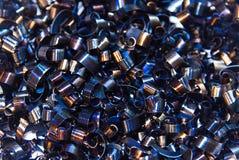Rasages de bleu après coupure du métal gâché Photographie stock libre de droits