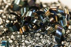Rasages en métal après coupure Images stock