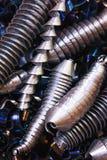 Rasages en métal après coupure du métal gâché Image libre de droits