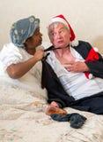 Rasande fru och skyldigt berusat Arkivfoton