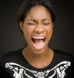 Rasande skrika för modell Fotografering för Bildbyråer