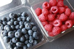 Rasberries blu delle bacche Immagine Stock Libera da Diritti