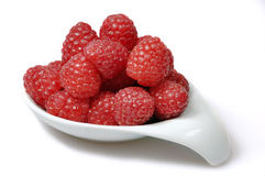 Rasberries in a dish Royalty Free Stock Photo