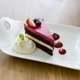 rasberry的蛋糕 库存图片