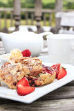 Rasberry and Almond Scone Royalty Free Stock Image