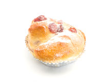 Rasberry bun on foil cup Royalty Free Stock Photography