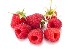 Rasberry. Fresh rasberry  on white backgdound. Natural food Royalty Free Stock Photo