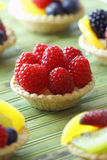 Rasberry fruit tart Royalty Free Stock Images