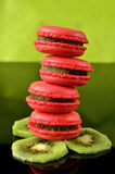 Rasberry and Kiwi Macaroon Royalty Free Stock Photo