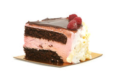 Rasberry mousse cake Royalty Free Stock Photo