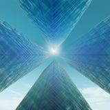Rascacielos abstractos ilustración del vector