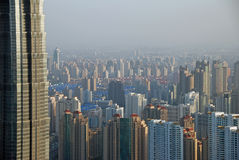 Rascacielos, altos a pequeño Fotos de archivo