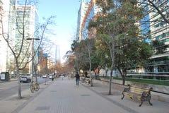 Rascacielos asombrosos en Santiago, Chile imágenes de archivo libres de regalías