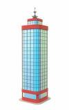 Rascacielos azul Fotos de archivo libres de regalías