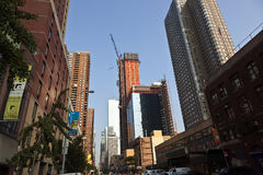 Rascacielos bajo construcción Imagen de archivo libre de regalías