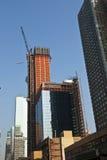 Rascacielos bajo construcción Foto de archivo