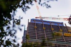 Rascacielos bajo construcción en Los Ángeles, California Foto de archivo libre de regalías