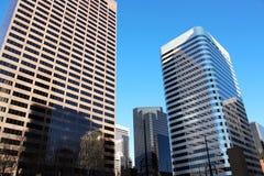 Rascacielos céntricos Foto de archivo libre de regalías