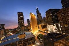 Rascacielos céntricos de Chicago fotos de archivo
